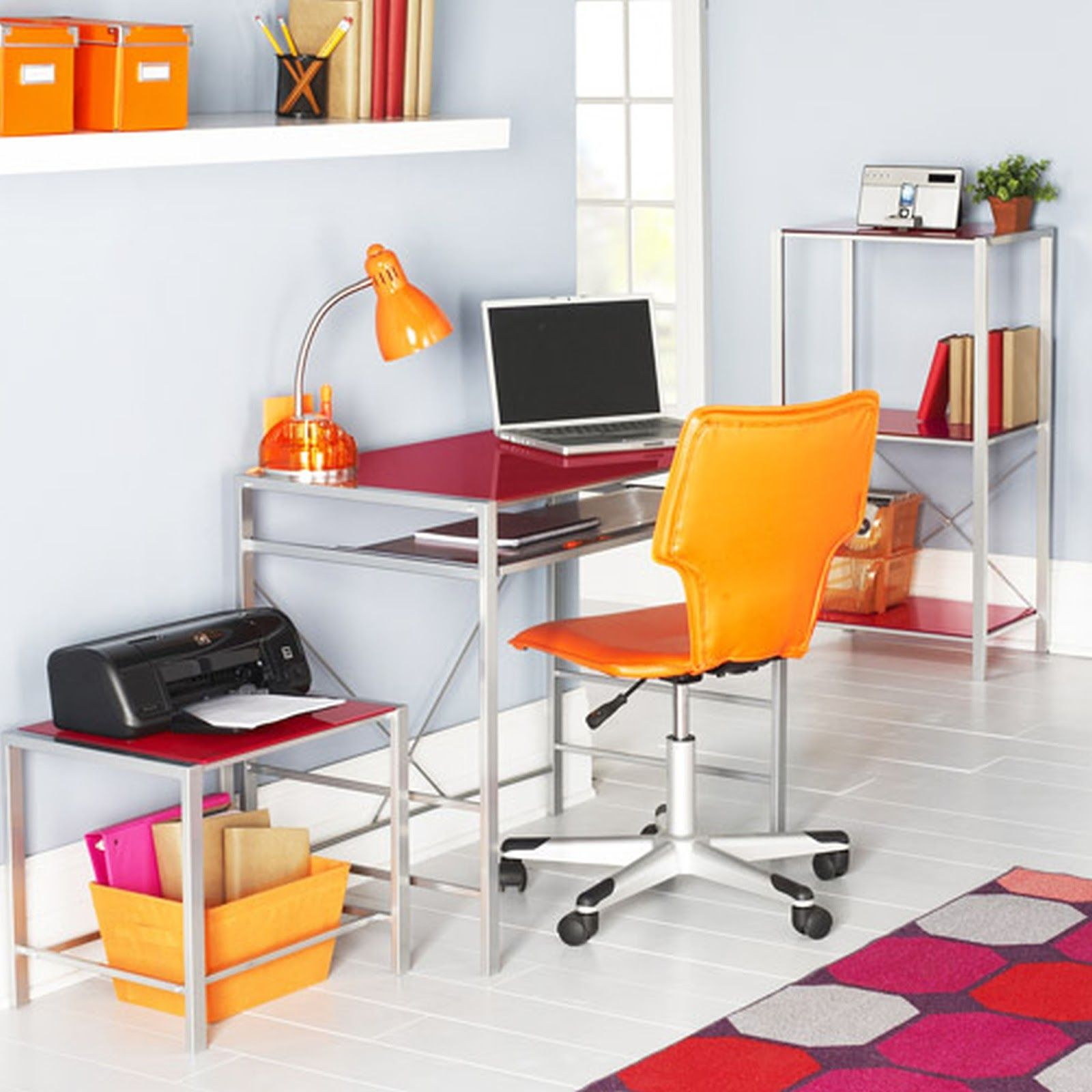 cool office storage. Work Apartment Office Red And Orange Home Furniture Metal Writing Computer Desk With Sliding Tier Open Storage Furniture: Professional Cool E