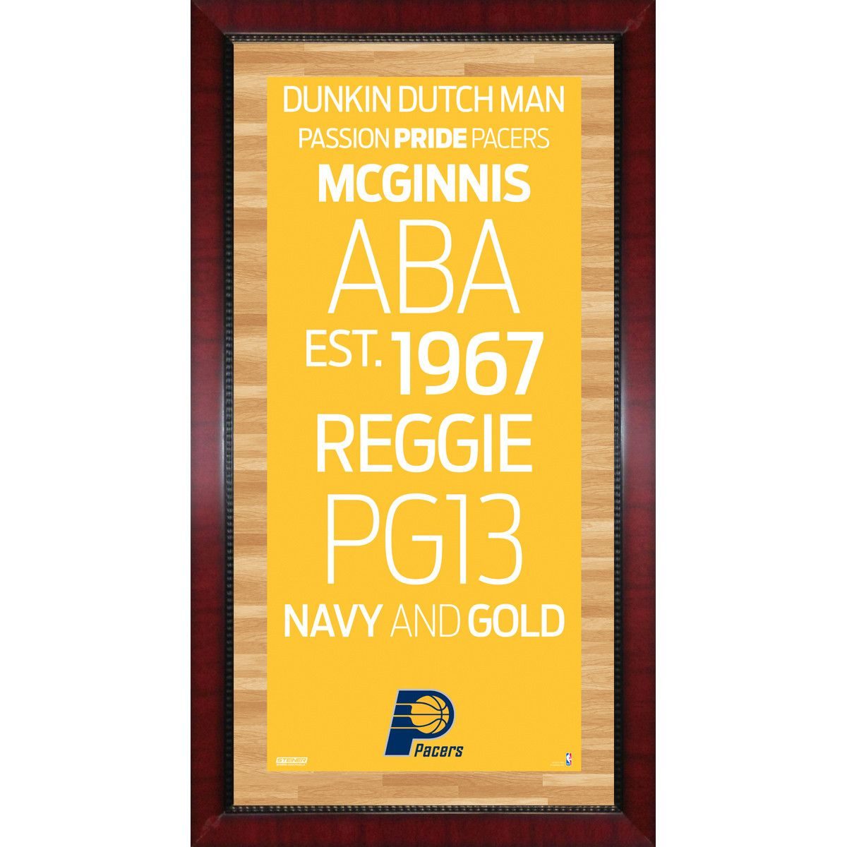 Indiana Pacers Subway Sign Wall Art 16x32 Photo - This Indiana ...