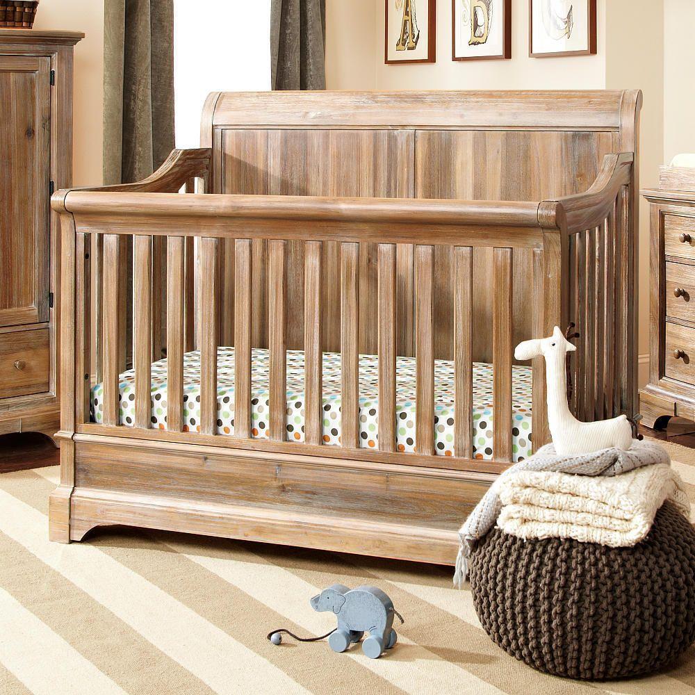 Bertini Pembrooke 4 In 1 Convertible Crib Natural Rustic Baby