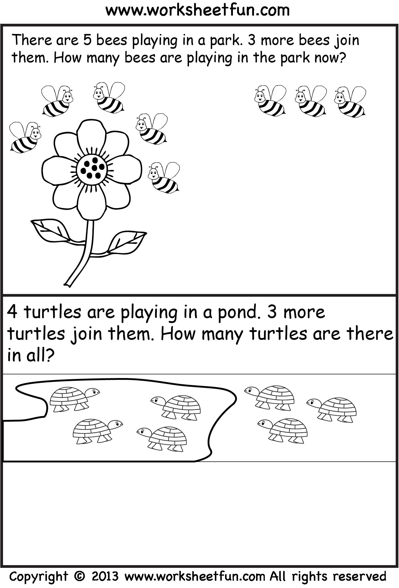 Free Printable Kindergarten Story Math Problems