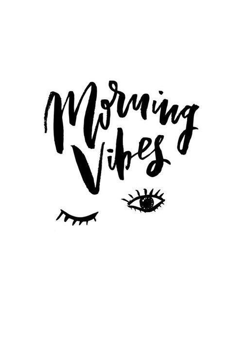 Morning Vibes Sleep Handwritten Handlettered Interior Bedroom Calligraphic Black White Quote
