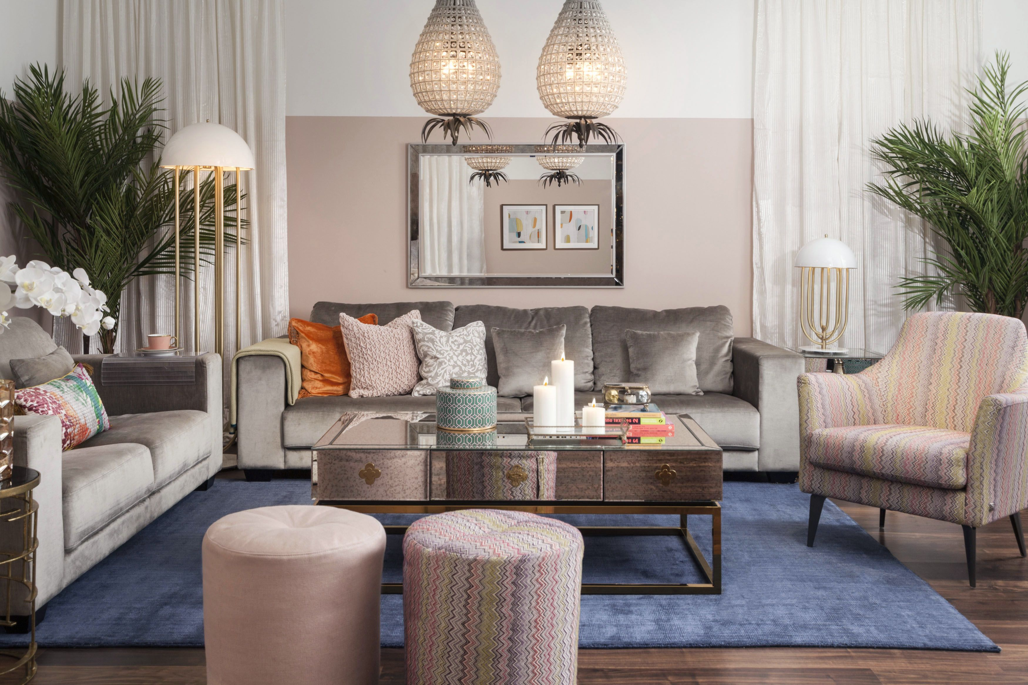 Superior Living | Opulent: Create Sleek And Modern Feminine Look By Combining  Elegant Velvet And Mirror Furniture With The Fun Mix Of Bright Coloured  Pieces: Add A ...