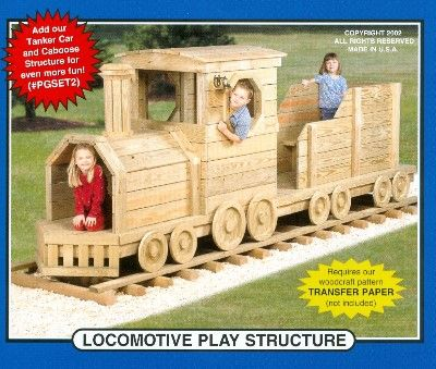 Winfield PGSET Locomotive Play Structure  train Child outside furniture craft pattern