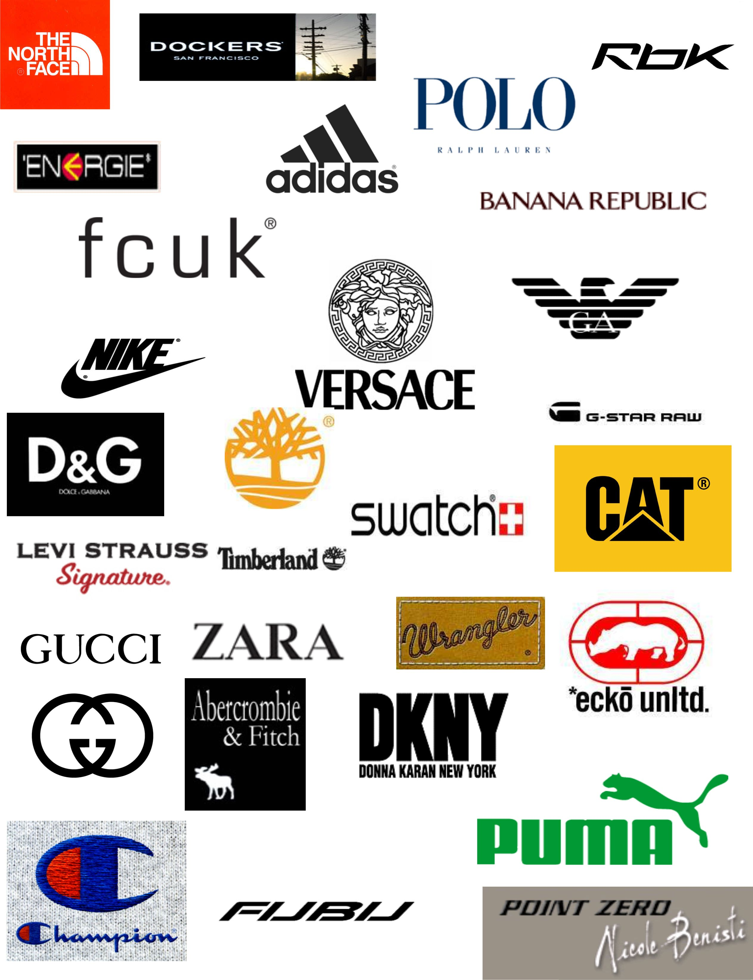 Brands can't live without it. Clothing brand logos, Best