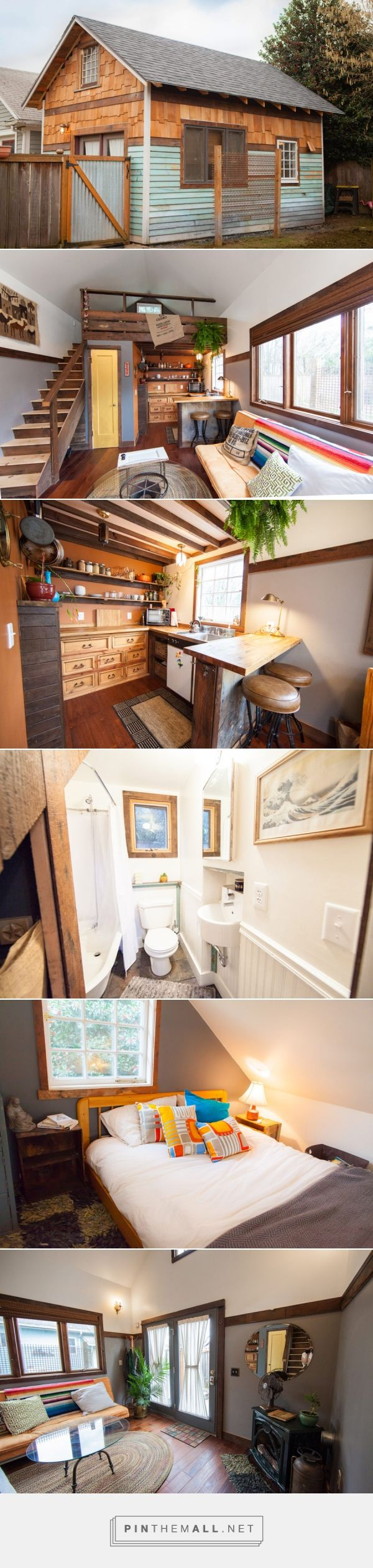 A Tiny Home Built From Red Old Garage In Portland Oregon Jenny And Michael S House
