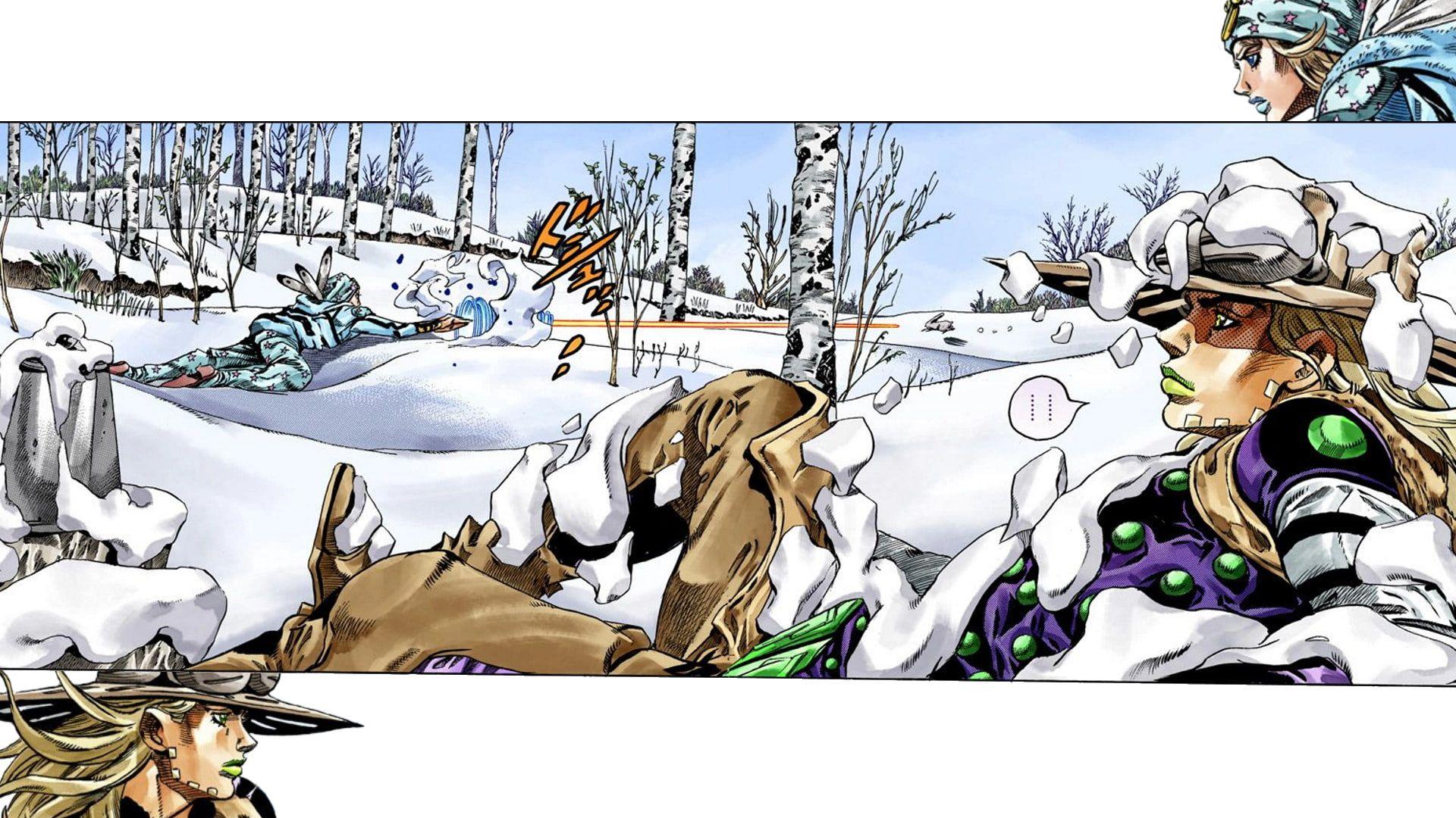 Anime Jojo S Bizarre Adventure Gyro Zeppeli Johnny Joestar 1080p Wallpaper Hdwallpaper Deskto Jojo S Bizarre Adventure Jojo Bizzare Adventure Jojo Bizarre