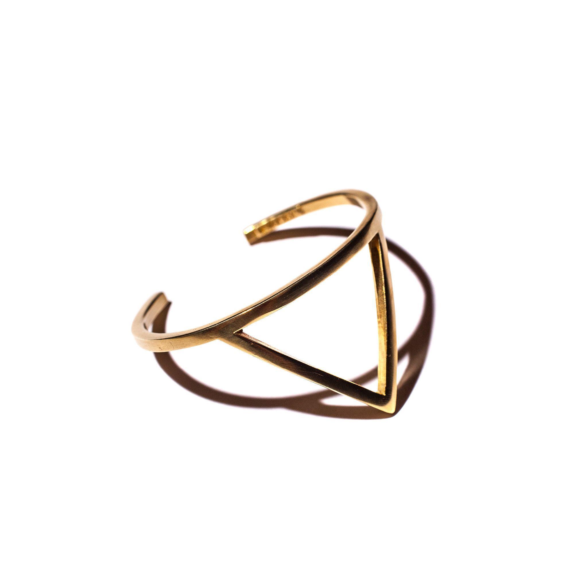 Triangle Cuff in Brass