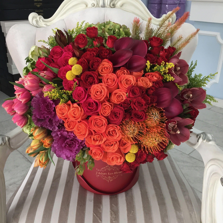 Adore Los Angeles harvest fantasy #jlf #fall #flowers #orangeroses #tulips