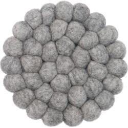 Photo of Carl felt ball rug round myfelt