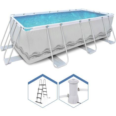 Jilong piscine rectangulaire hors sol structure Pompe piscine hors sol pas cher