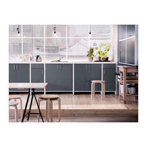 FYNDIG Éléments bas avec portes, blanc, blanc | Kitchen ... | {Ikea küchenzeile fyndig 1}