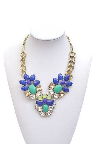 Marine Mystique Necklace - Blue + Teal - $29.00 | Daily Chic Accessories | International Shipping