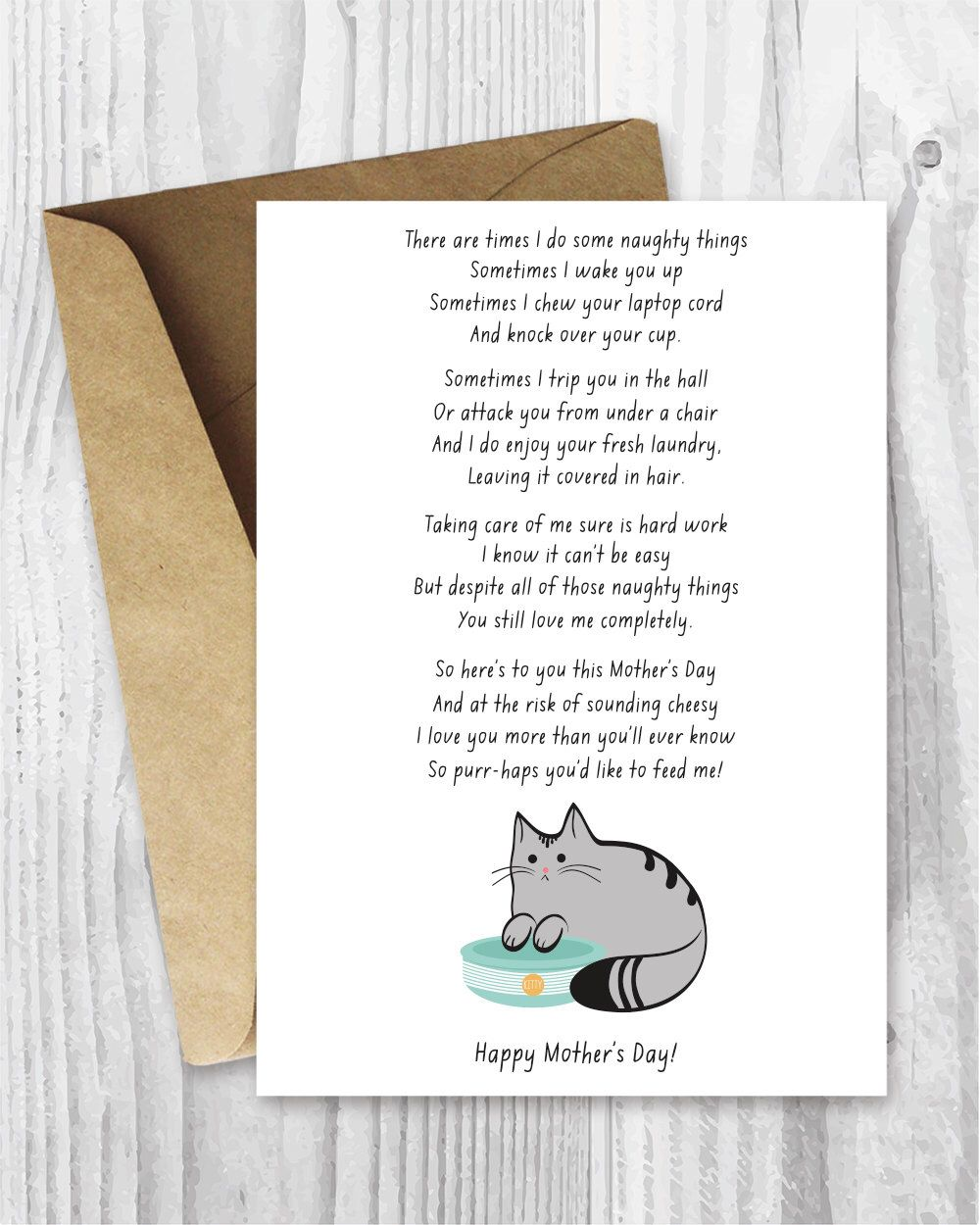 Mothers Day Card Funny Download, Printable Mother\'s Day Card, Funny ...