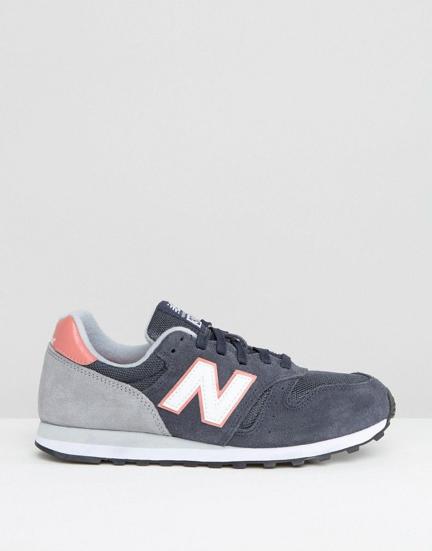 Image 2 of New Balance 373 Navy And Pink Trainers