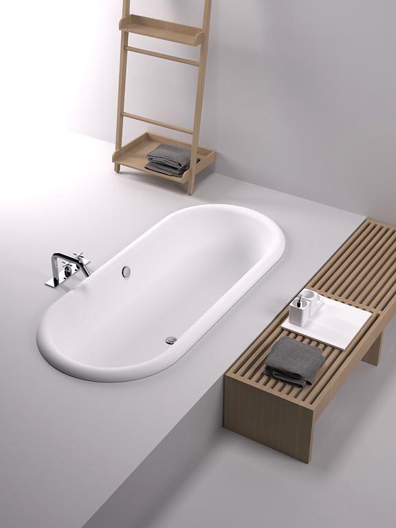 Ideen für ein schönes Bad Eingelassene Badewanne eingelassene - freistehende badewanne raffinierten look