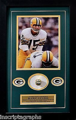 BART STARR SUPER BOWL II RING COLLAGE GREEN BAY PACKERS FRAMED 8X10 LOMBARDI