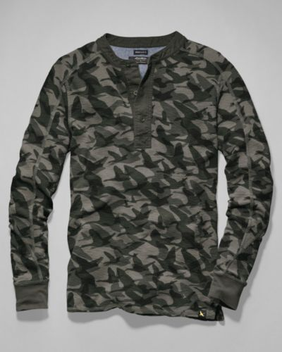 29be443cf2a29 Men s Woodside Thermal Henley - Camo Print   Eddie Bauer   Th nk God ...