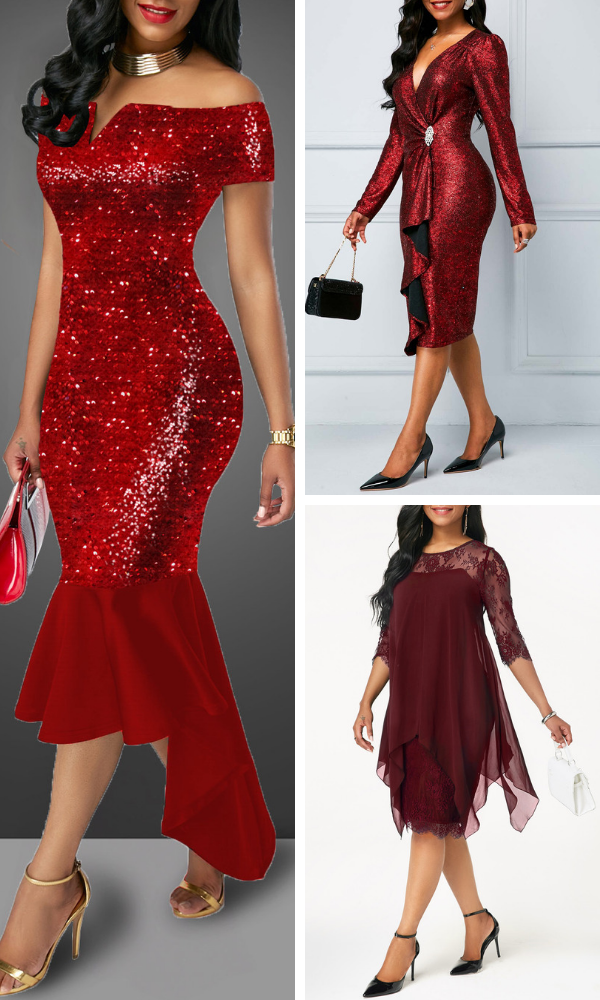 Dress Rotita Affordable Awesomeamp; Red Outfits To From Guaranteed N8mwvn0