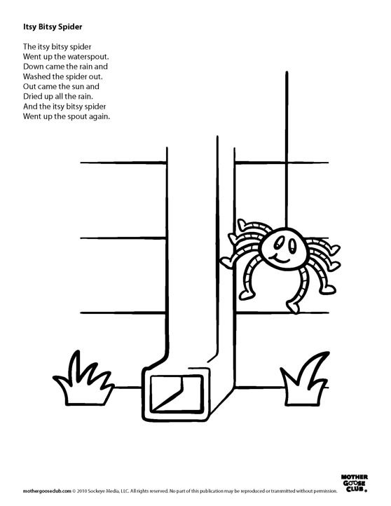 Coloring Pages Itsy Bitsy Spider Live Speakaboos Worksheets