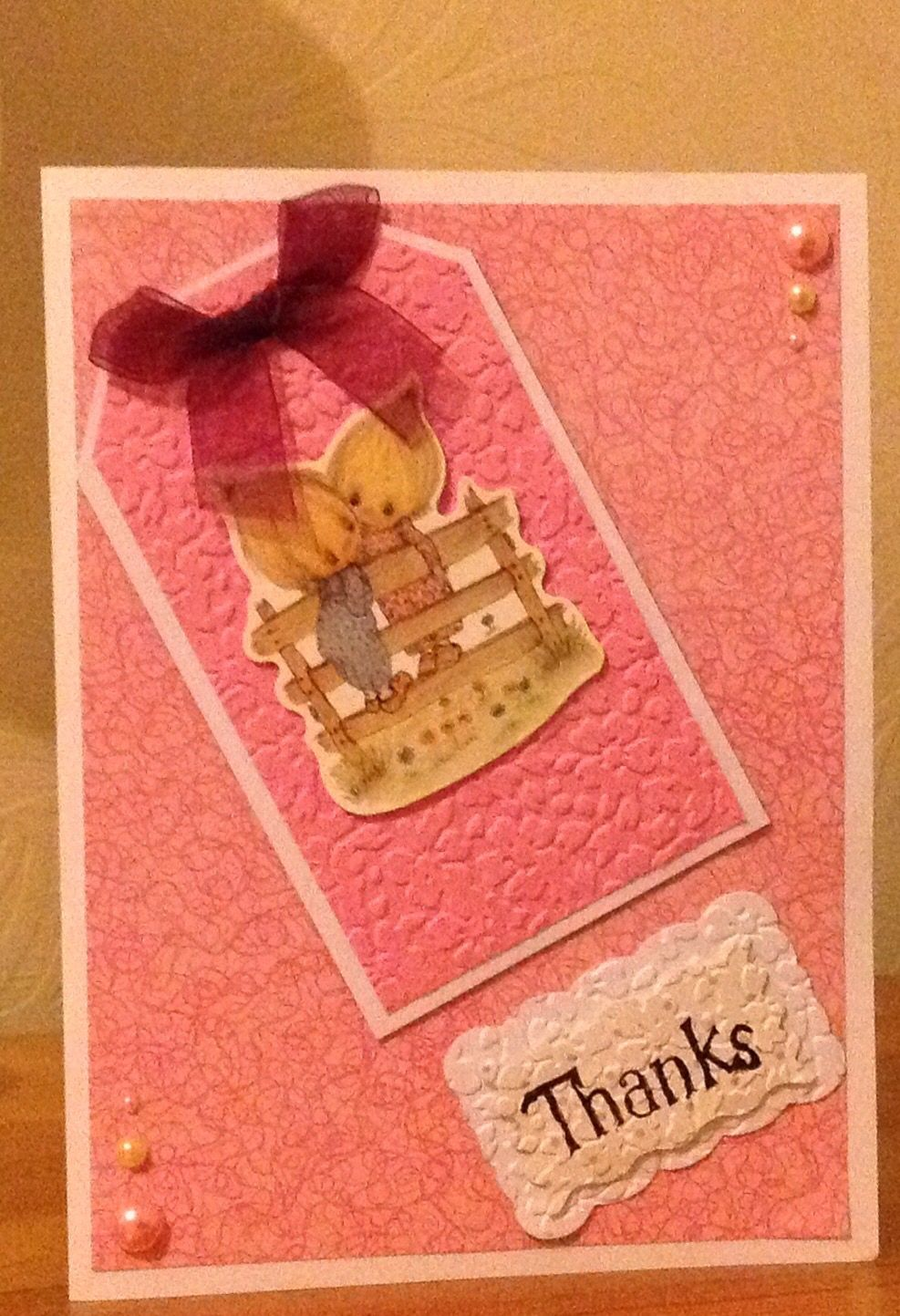 A thank you card cards handmade cards your cards