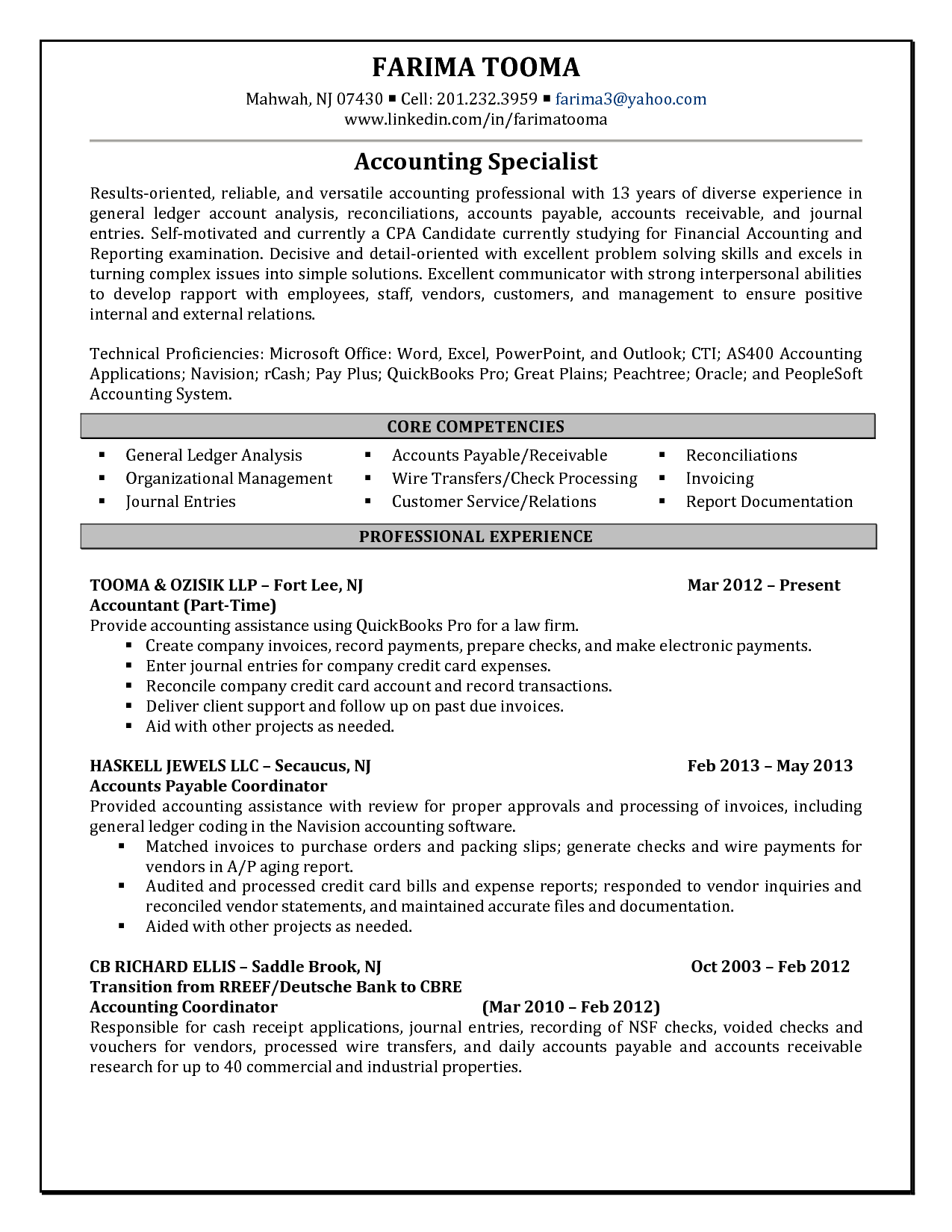 junior staff accountant resume gallery guide the perfect example of good for internship cv students with no experience publisher templates free