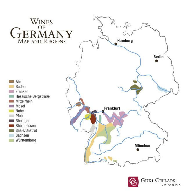 German Wines Maps And Regions A Brief History Of The Country In - Japan map by region