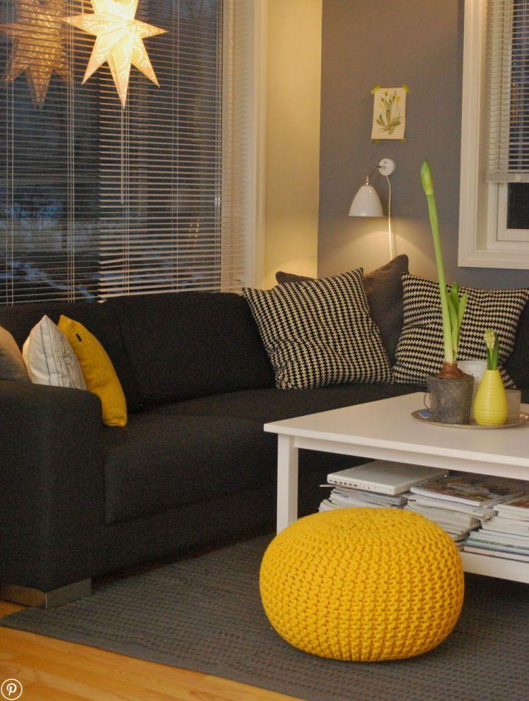 Żółte meble i dodatki do domu - Myhome Small living rooms in 2018
