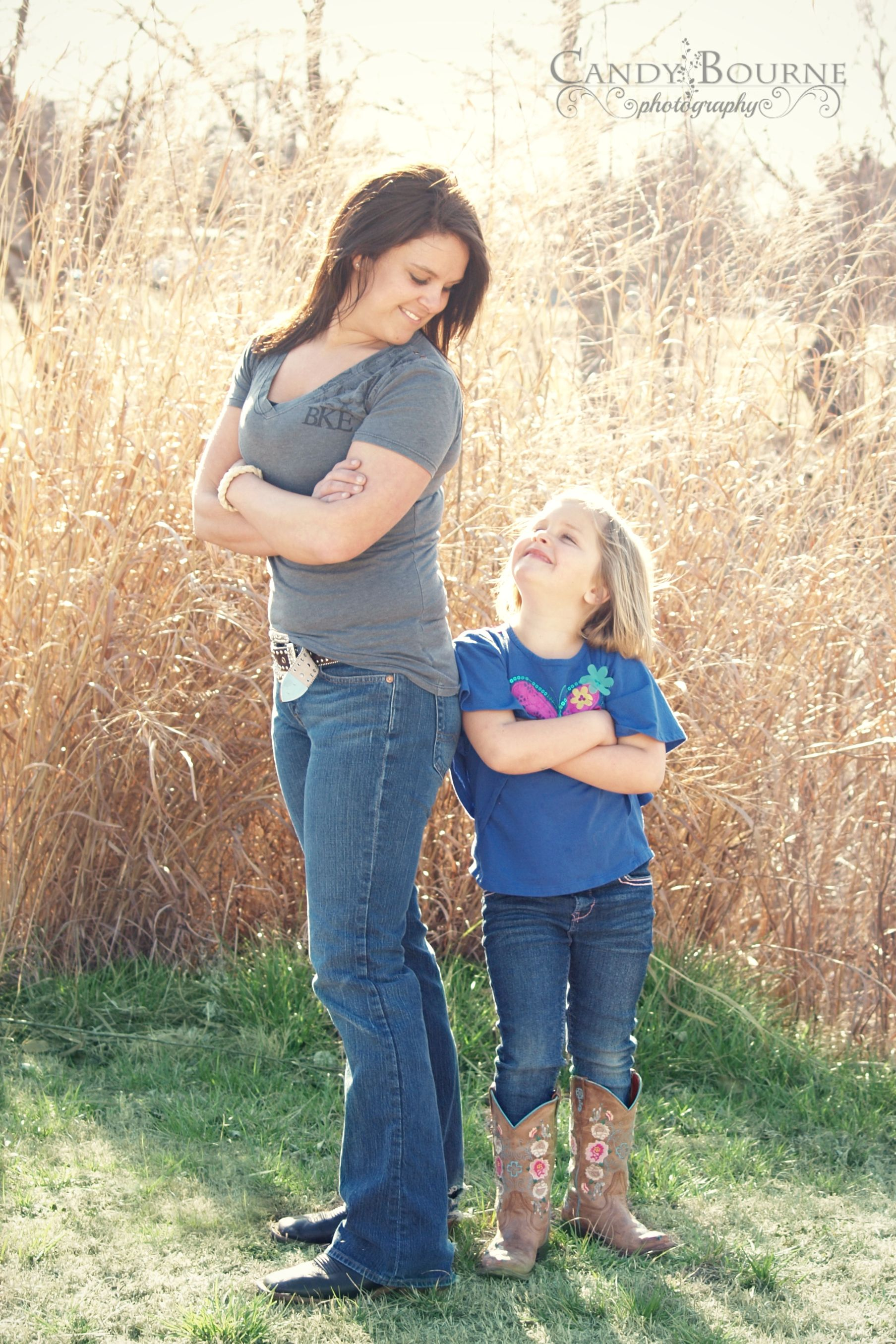 Family Pics Candy Bourne Photography Mom Daughter Pose Funny Cute