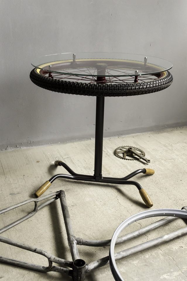 Bike Coffee Table Made Of Bike Parts Bicycle Decor Car