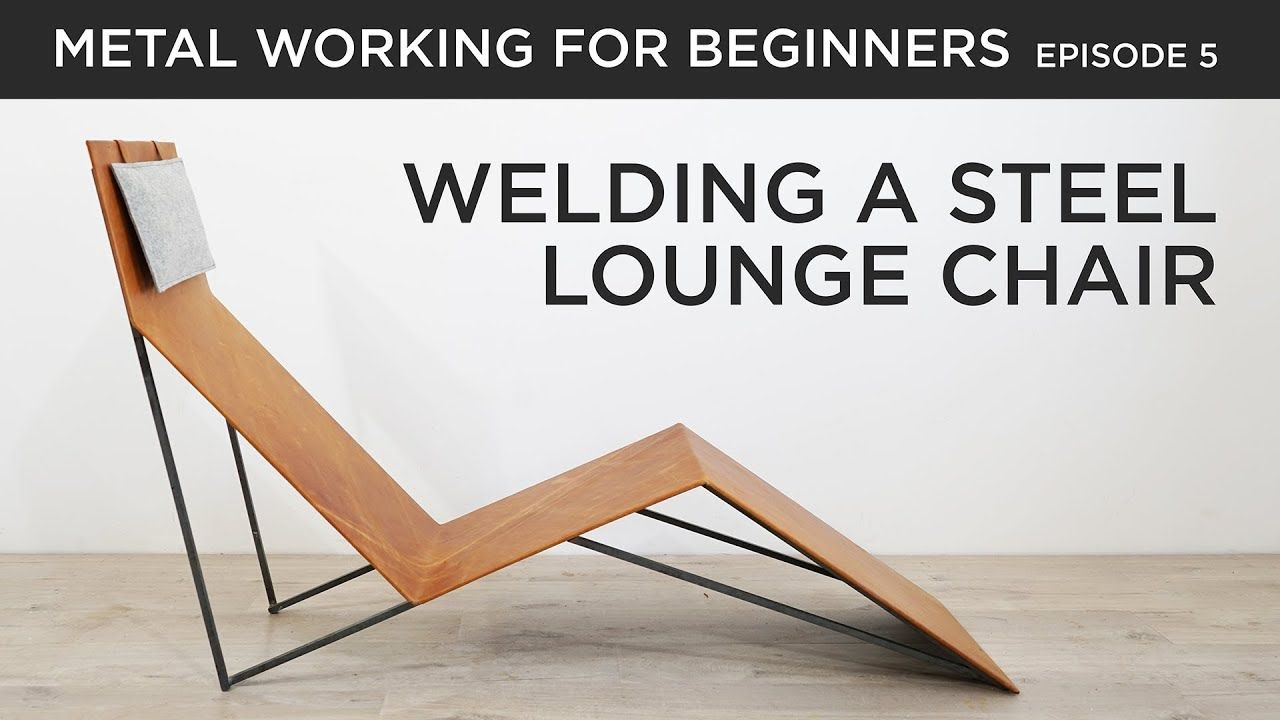Making a Steel and Leather Lounge Chair - YouTube  Leather lounge