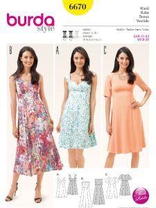 burda style: Damen Kurzgrößen Kleider & Röcke Kleid