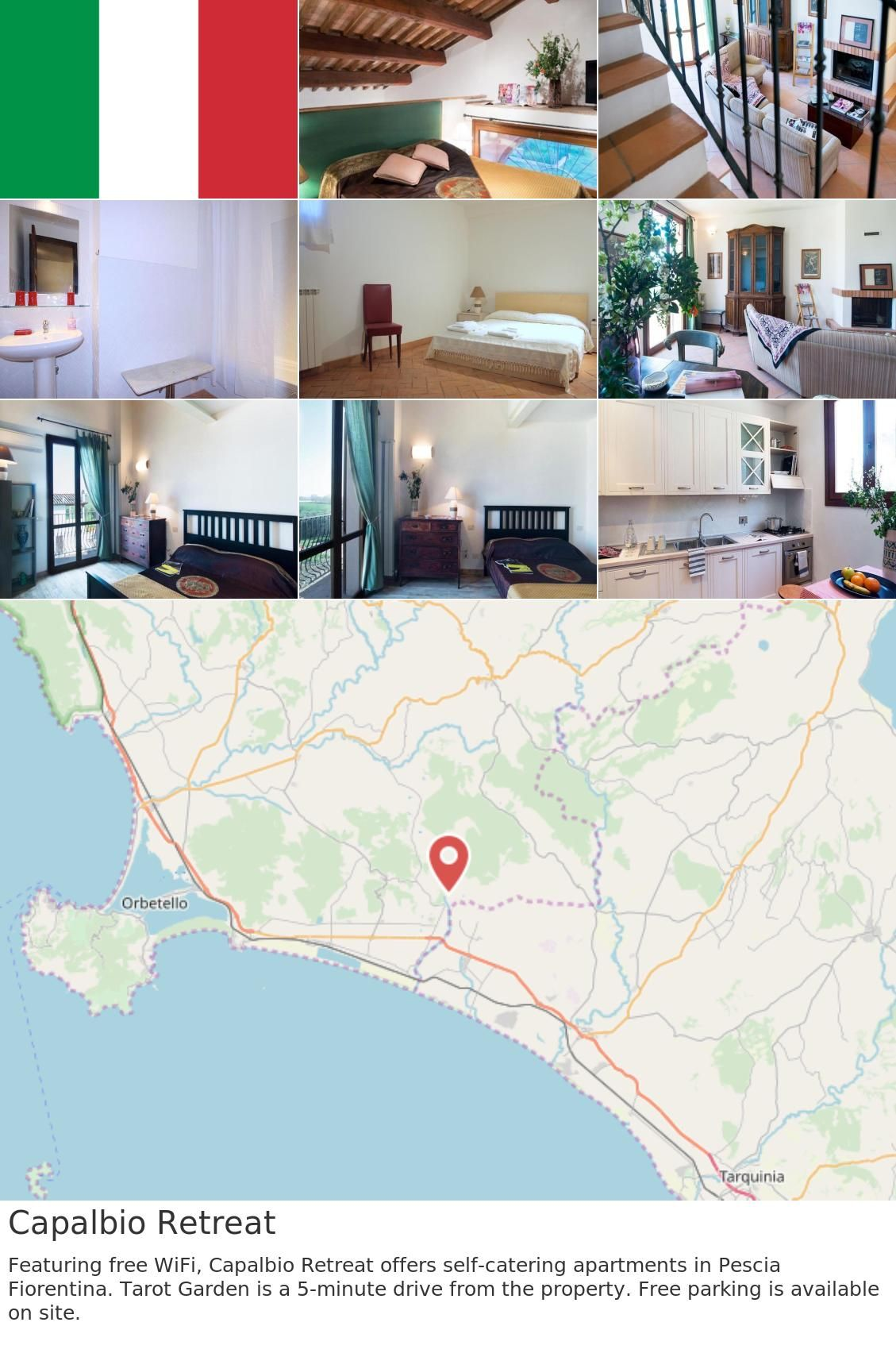 Europe Italy Capalbio Capalbio Retreat Featuring Free Wifi Capalbio Retreat Offers Self Catering Apartments In Pescia Fiorentina Tarot Garden Is A 5 Minut