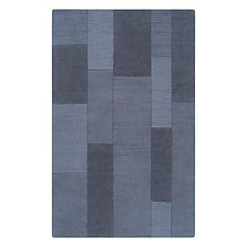 Modern Wool Tufted Area Rug With Rectangle Pattern 5'8'