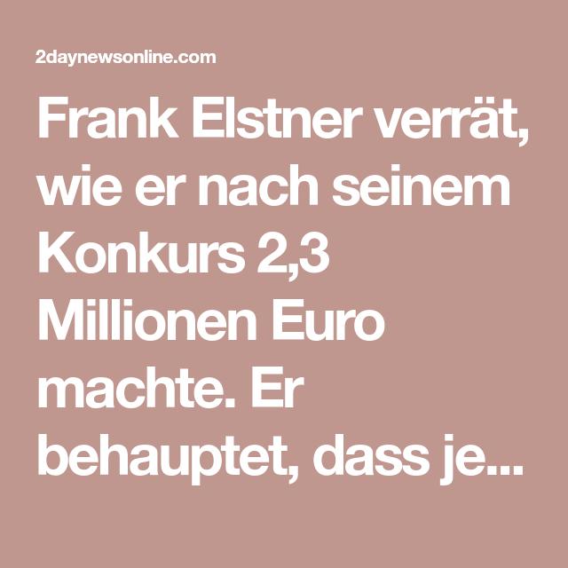 Frank Elstner Konkurs