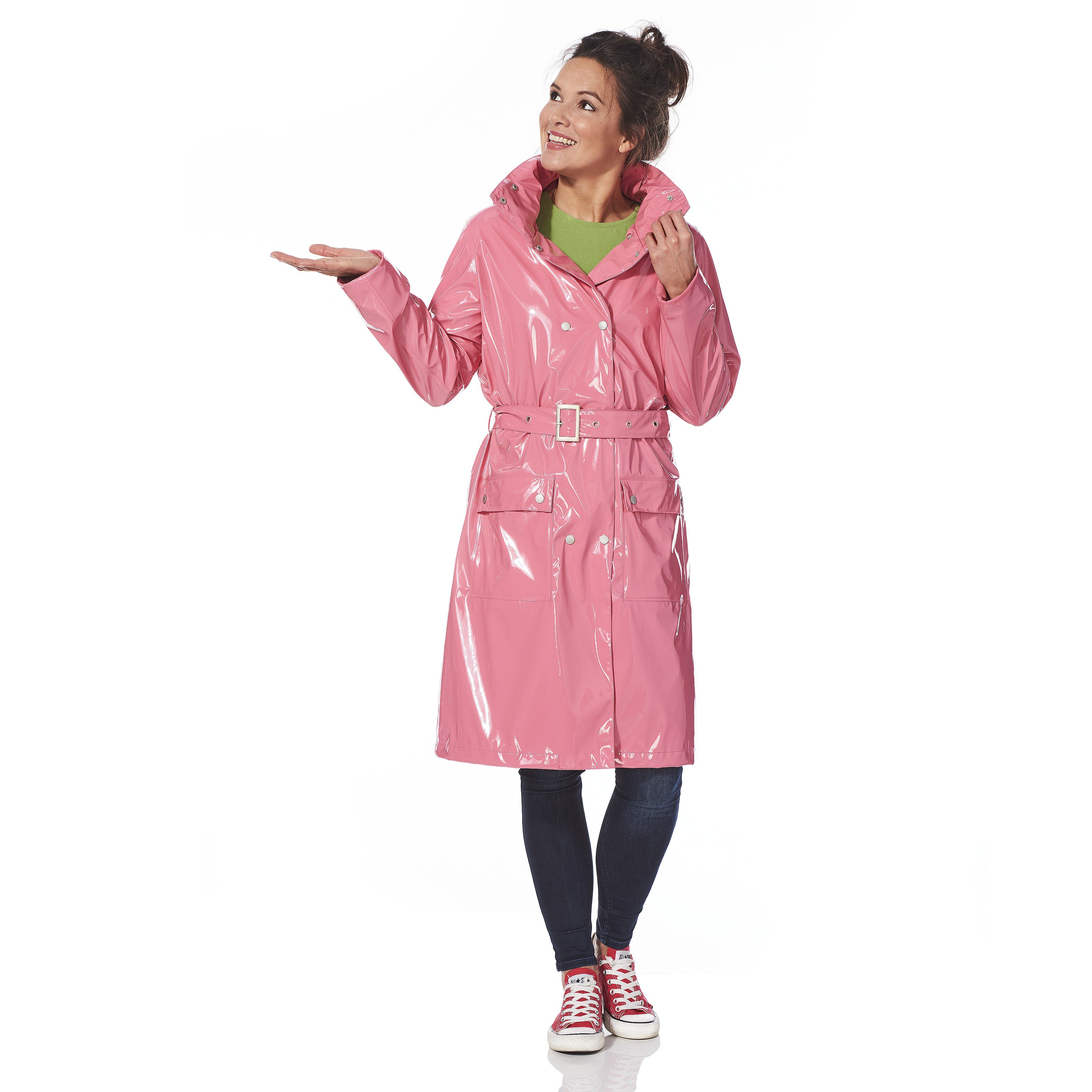 Langer Lackmantel Paula pink | lakk mantel | Pinterest | Regenmantel ...