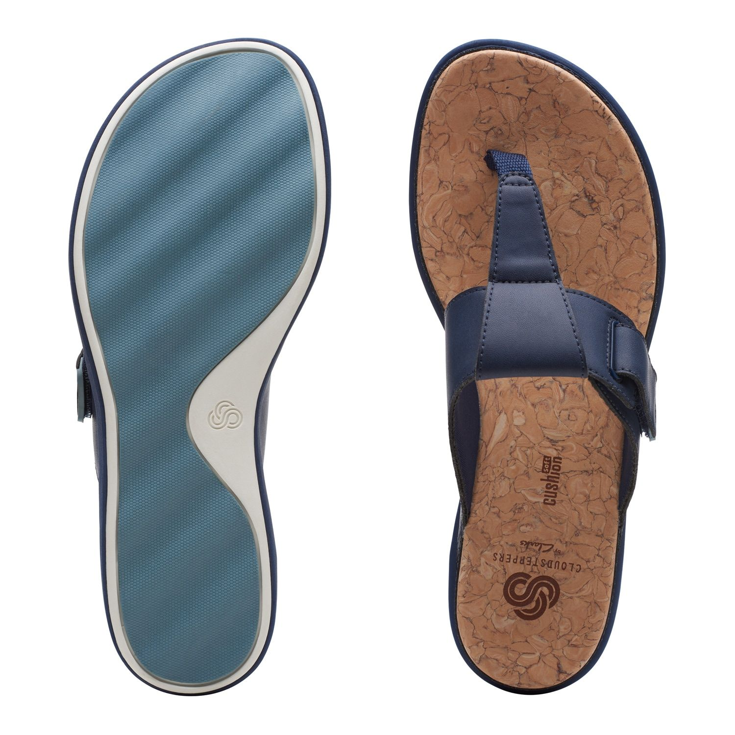 Clarks Cloudsteppers June Reef Womens Flip Flop Sandals  -3242