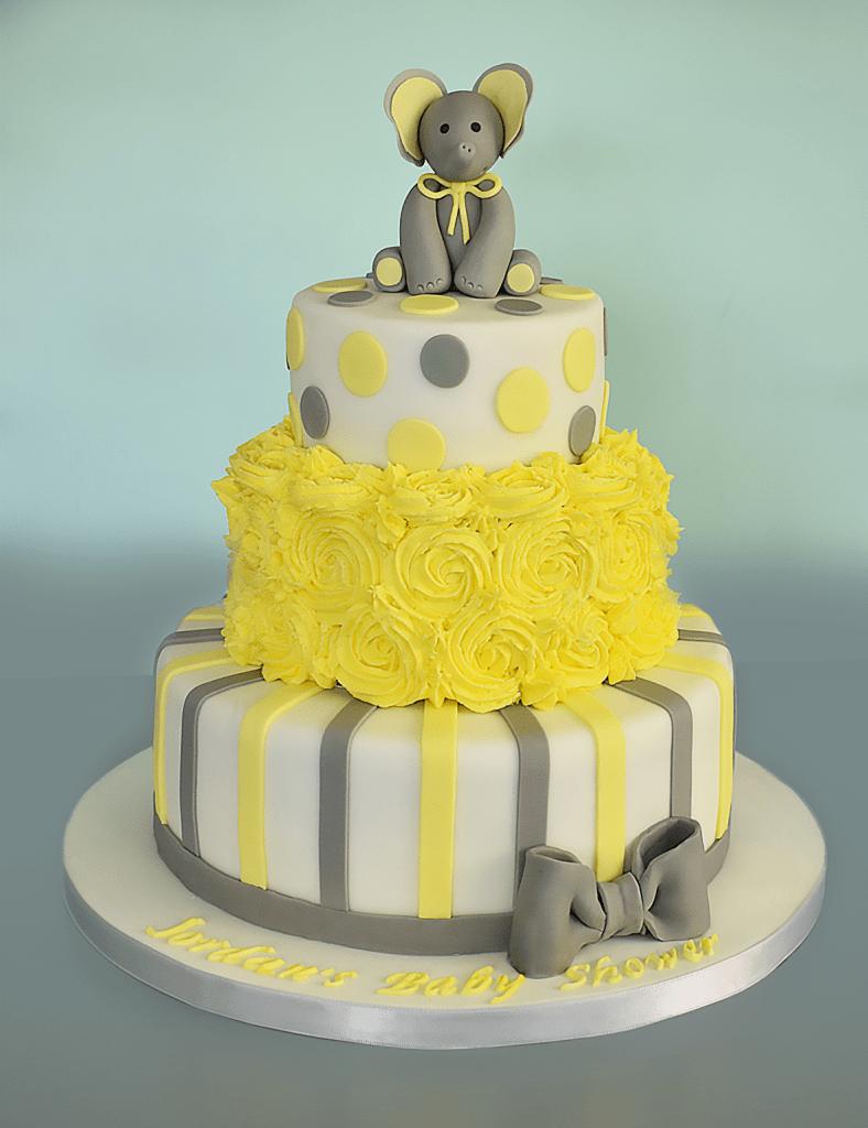Three Tier Baby Shower Cake - Step by Step Tutorial | Ideas ...