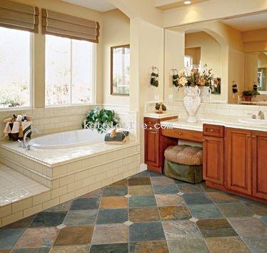 California Gold Slate Tile 12x12 Slate Tile Tile Bathroom Bathroom Tile Designs Slate Tile