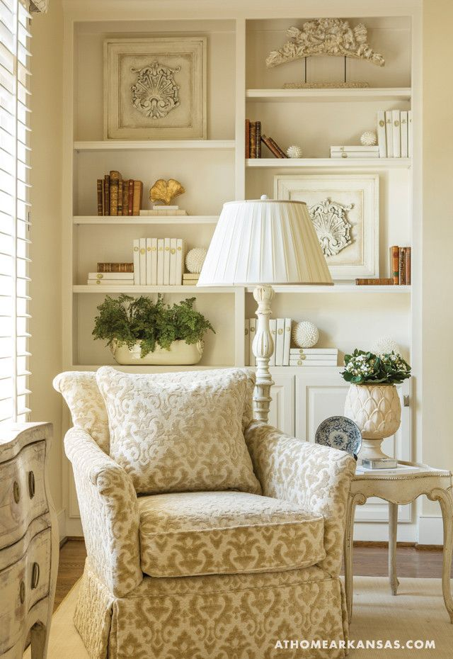 Bookcase Decor. Neutral Bookcase Decorating Ideas. Debi