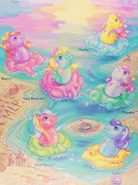 Sea Pony packaging - such gorgeous watercolour artwork!