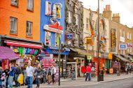 Shopping street in Camden Town, London