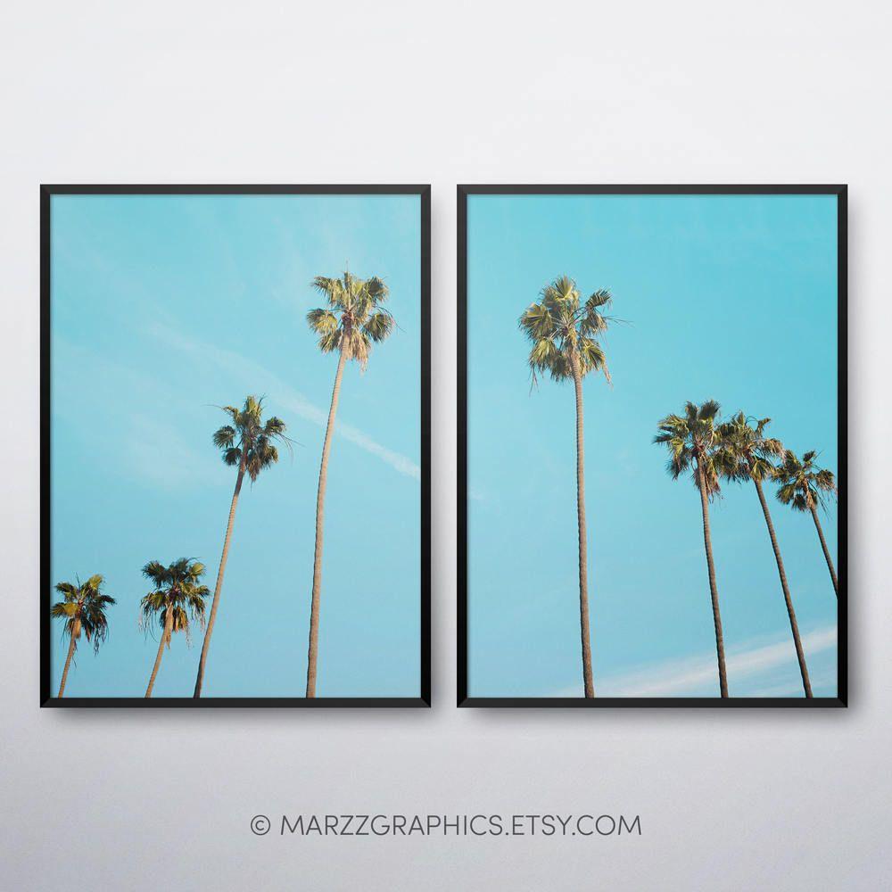 Palm Trees Printable Palm Trees Print Palm Trees Wall Art Palm