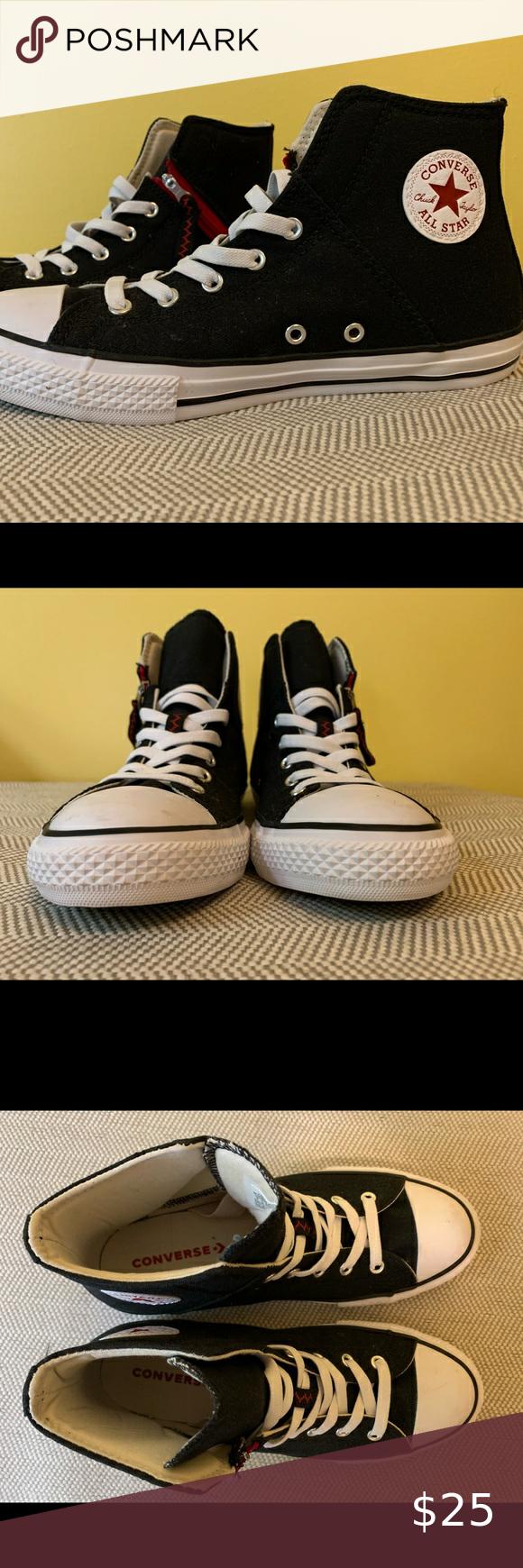 junior converse high tops size 5
