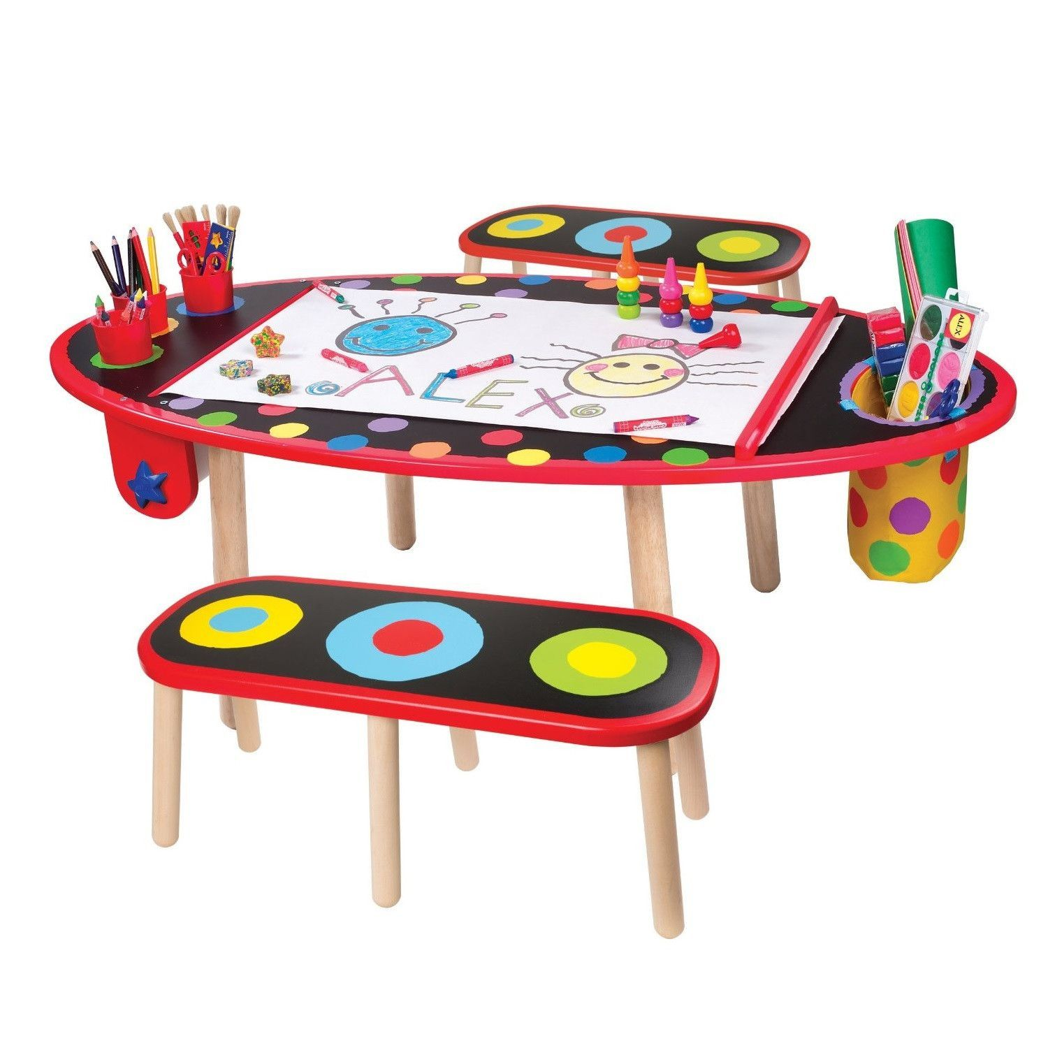 Kids Art Studio Drawing Table And Benches Art Table Toddler Art Table Kids Art Table