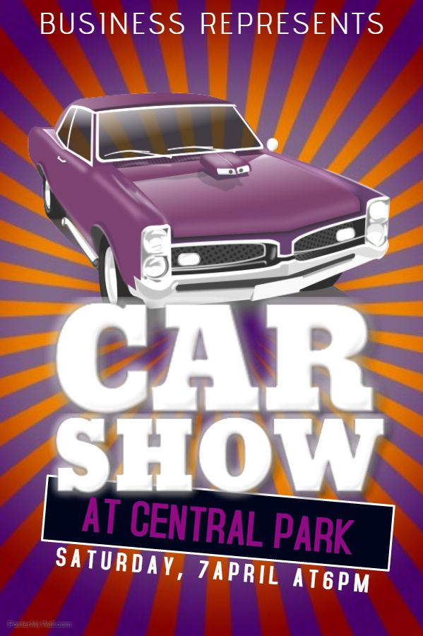 Vintage Car Show Poster Click On The Image To Customize On