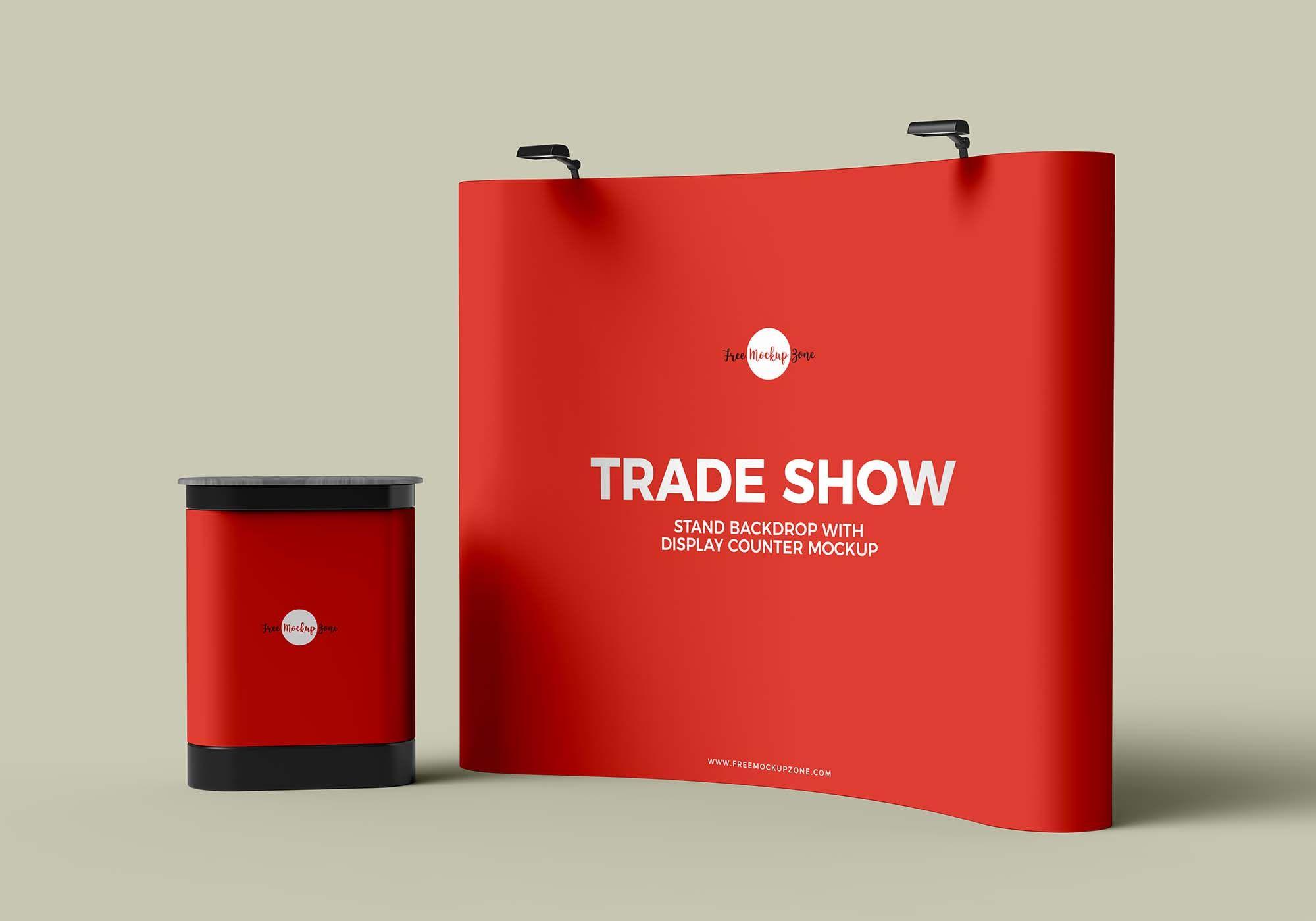 Free Trade Show Stand Mockup Psd Tradeshow Banner Free Mockup Mockup Free Psd
