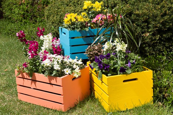 Wooden Crate Planters Wooden Crates Planters Wooden Crates Garden Wooden Crates Projects