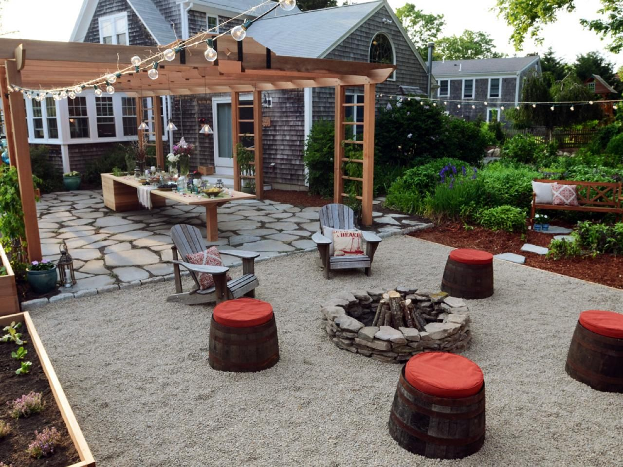 gravel fire pit area hot backyard design ideas to try now on inspiring trends front yard landscaping ideas minimal budget id=44173