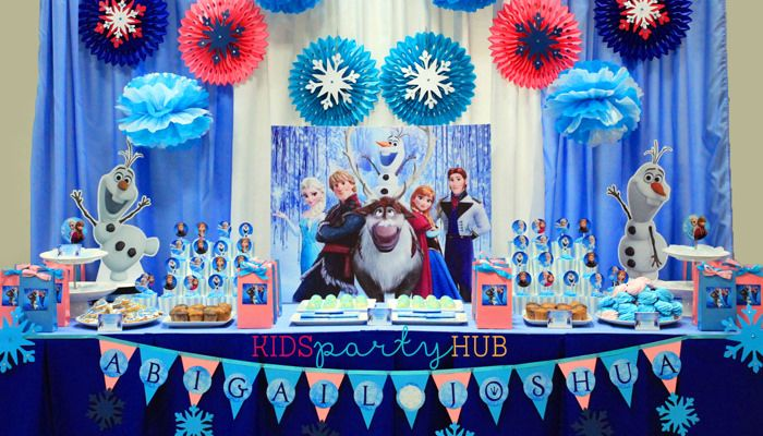frozen birthday backdrop Google Search Frozen Birthday Decor
