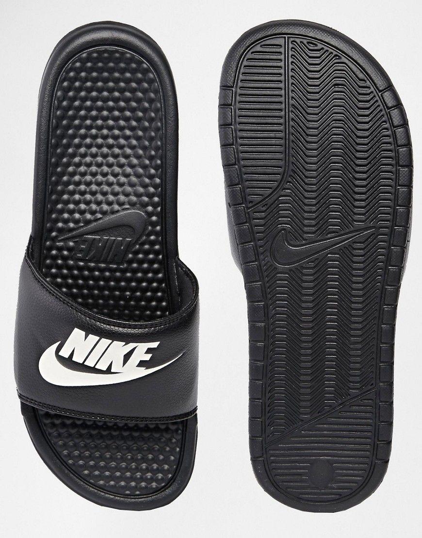 Image 3 of Nike Benassi JDI Slider Flip Flops 343880-090  f37d0cf1c